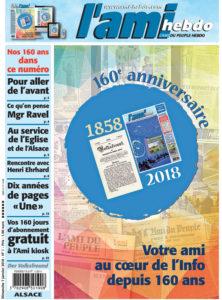 "01 ADP 01 ALSACE une - Concours ""160e anniversaire"""