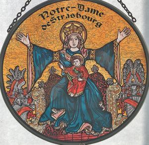 medaillon plein - La Vierge aux bras étendus