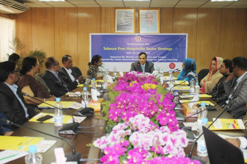 The Orientation meeting held on tobacco-free hospitality sector implementation strategy paper
