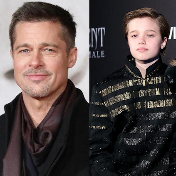 Brad Pitt and Shiloh Pitt