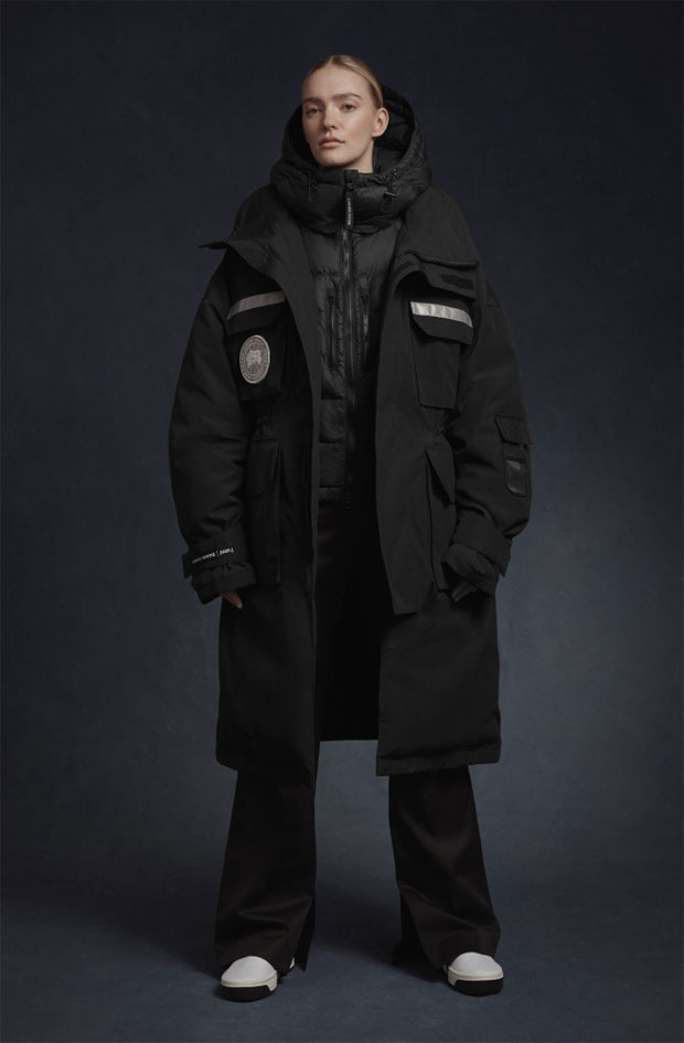 Canada Goose: the capsule collection, of 3 parkas and a knitwear garment, created exclusively with JUUN.J.