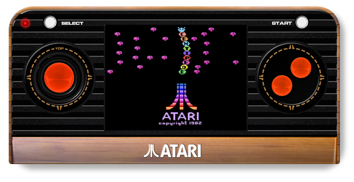 Atari Retro Handheld Console - screen