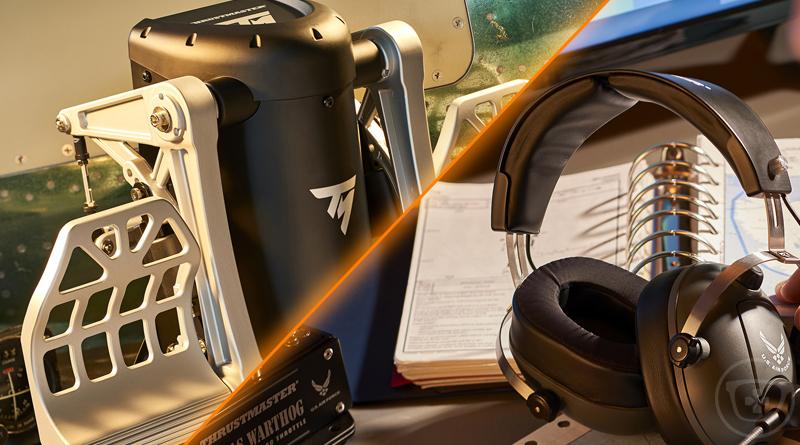 e3 2018 thrustmaster d voile un palonnier et un casque pour les fans de simulateur de vol. Black Bedroom Furniture Sets. Home Design Ideas