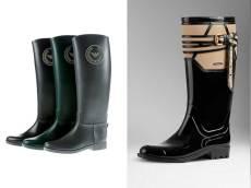 Stivali da pioggia Emporio Armani e Burberry