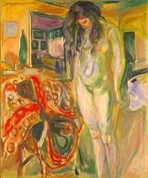 """""""Modella vicino alla sedia di vimini"""" Edward Munch"""