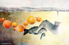 Domen Lo - A Clockwork Orange - stampa su tela in edizione limitata - cm. 190 x 100