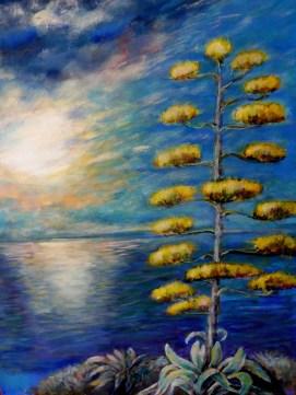 Mariella Relini - Fiore di agave - foto / acrilico su tela - cm. 50 x 70
