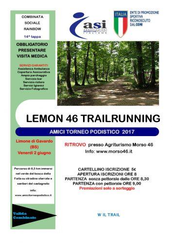 volantino gara 13 - Lemon 46 trailrunning