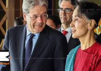 Gentiloni in Myanmar incontra Aung San Suu Kyi e il nuovo Governo