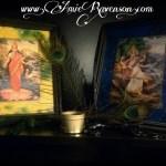 Lakshmi and Sarasvati- Goddesses of wealth and creativity.