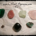 Malachite, Rhodochrosite, Jade, Rose Quartz, Ruby, Garnet, Emerald