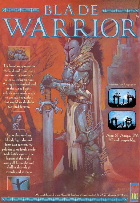 Blade Warrior computer game ad