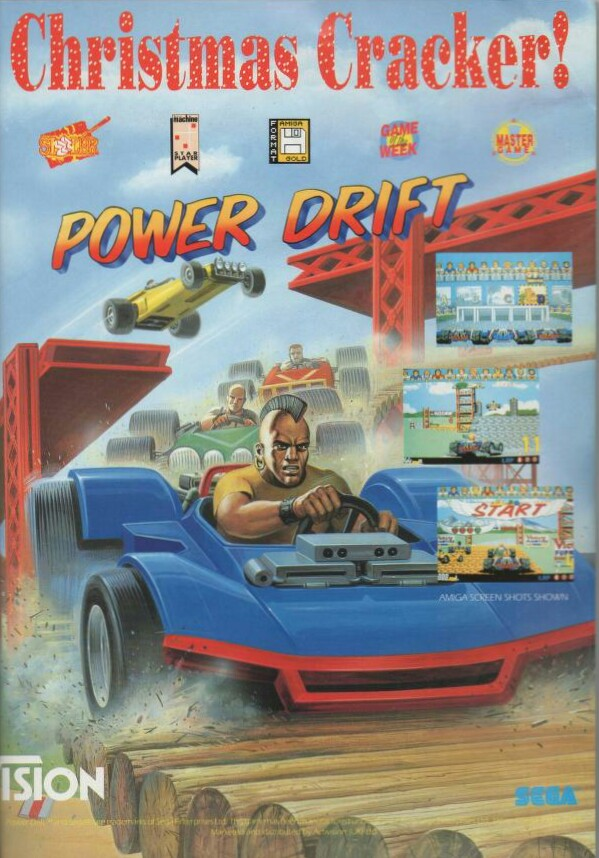 Power drift advert 16-bit conversion Sega