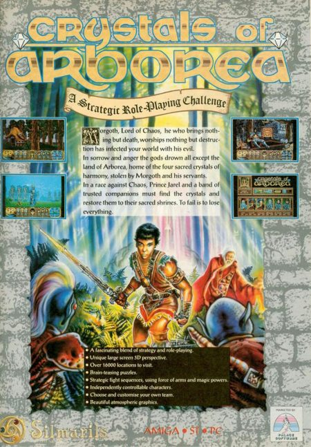 Cystals or Arborea Amiga game advert