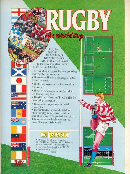 Ad for Rugby World cup computer game