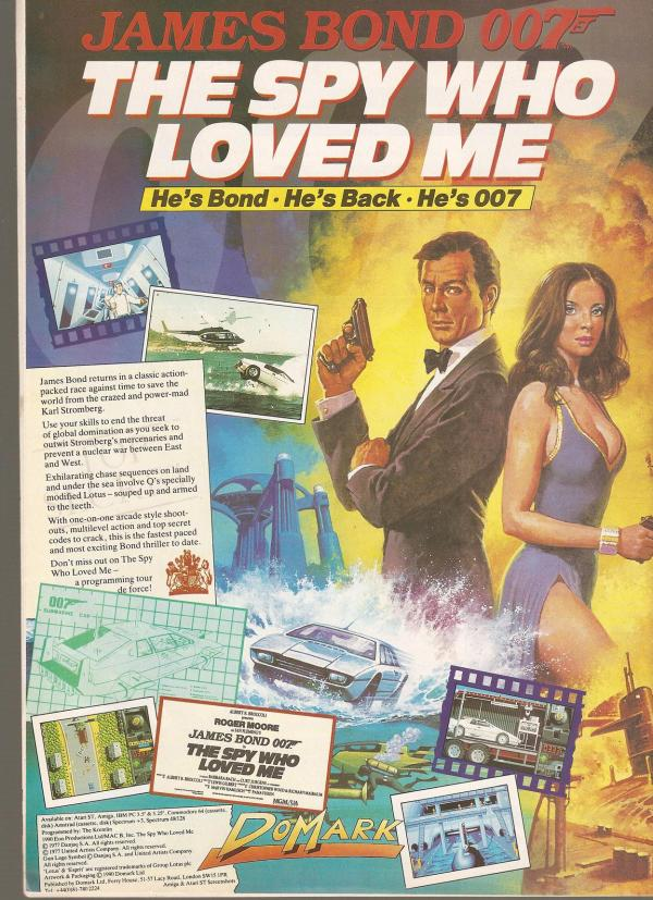 Ad poster for the Spy who loved me vintage video game