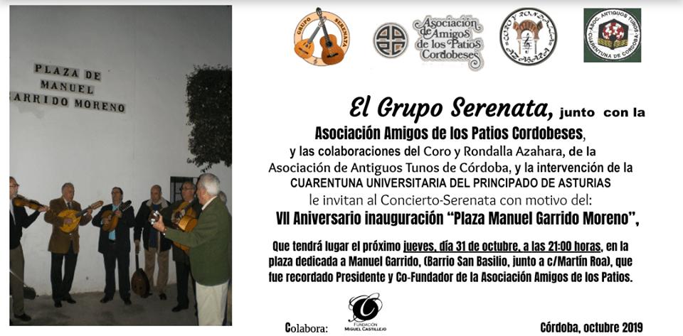 VII aniversaria plaza Manuel Garrido