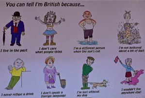 You can tell I'm British because....