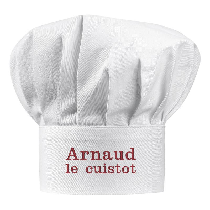 Toque De Chef Personnalise Avec Un Prnom Amikado