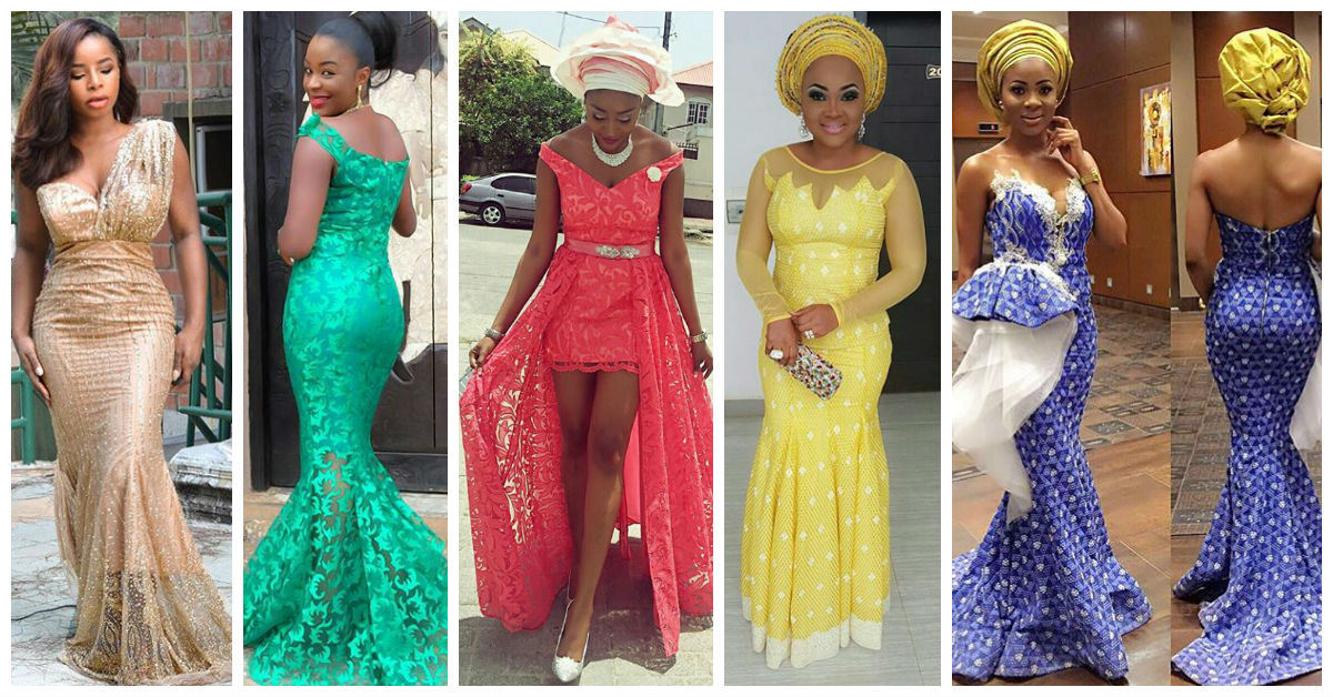 20 Latest and Most Recent Asoebi In Lace Style.