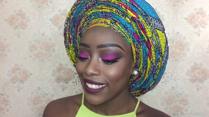 """VIDEO: How To Tie The """"A Million Pleats"""" Gele"""