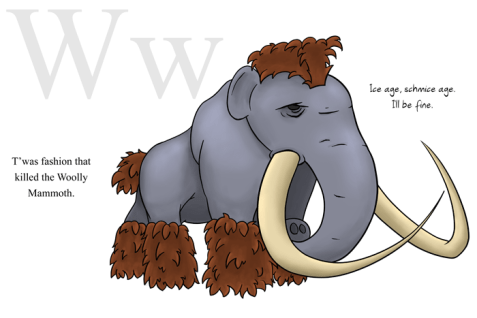 W is for Woolly Mammoth