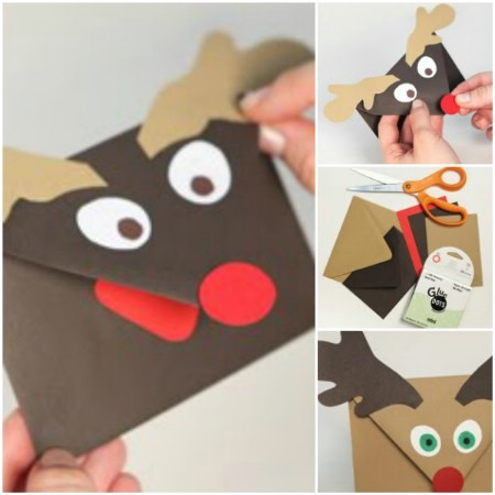 DIY Holiday Gift Idea: Reindeer Gift Card Envelope