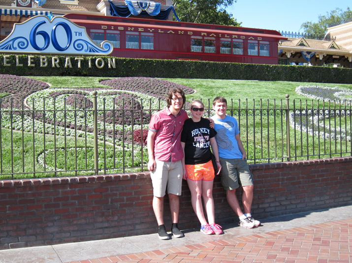Andy, Aaron and Lexi at Disneyland