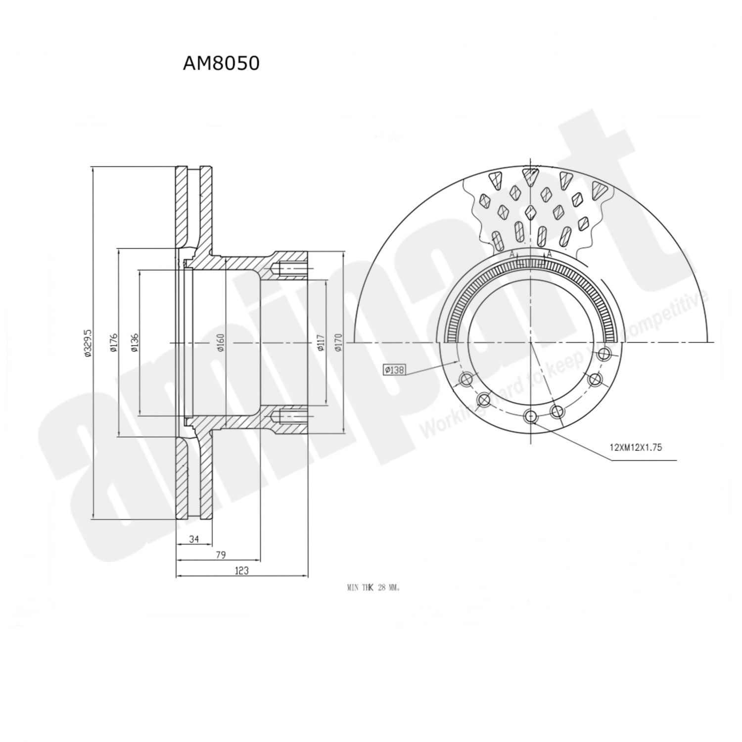 Amipart Brake Disc Am