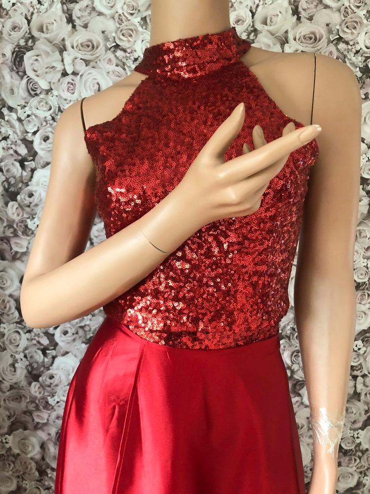 2-Teiler Rot-Hennakleid-Abendkleid
