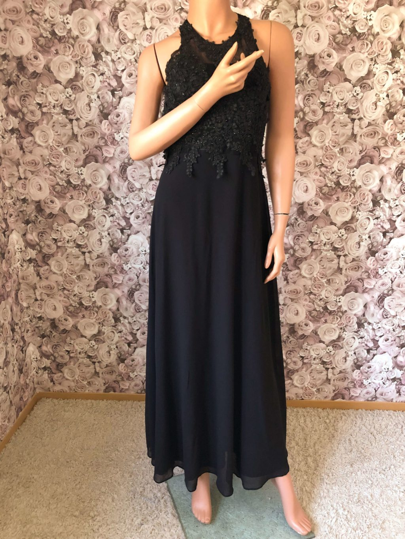 Fließendes Abendkleid Schwarz
