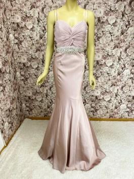 Abendkleid-Meerjungfrauenkleid-Strass-violett