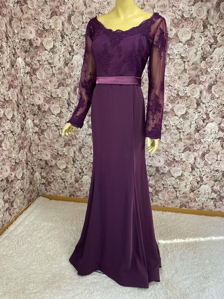 Abendkleid Übergröße Violett