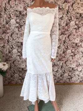 Abendkleid Standesamtkleid weiß