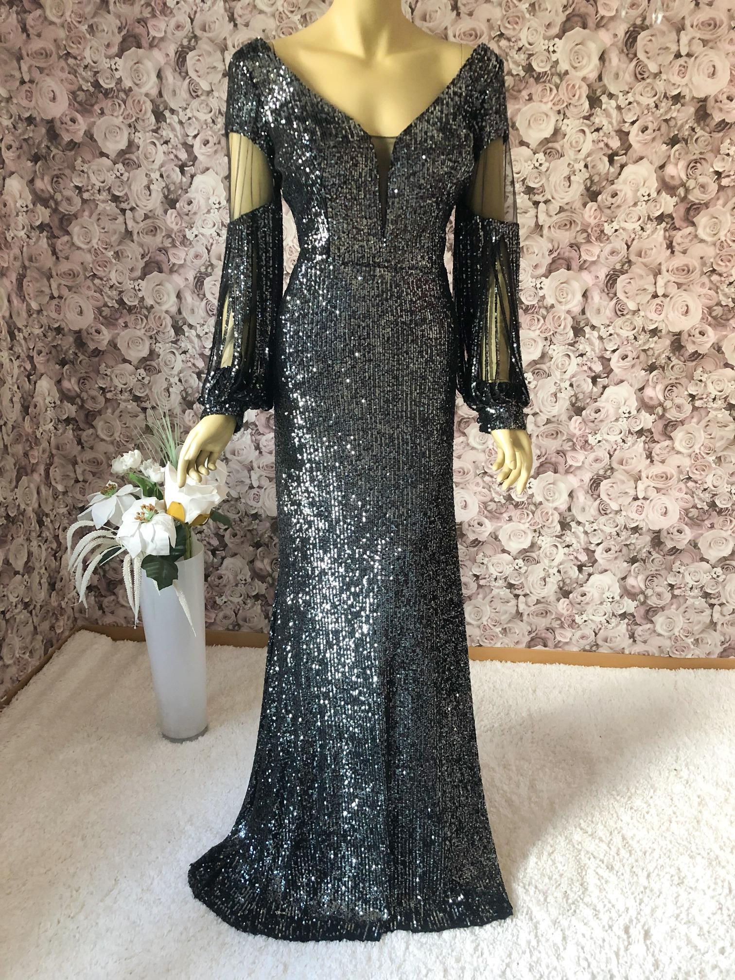 Elegantes Pailletten-Kleid schwarz✔ Multicolor✔ Highlight 12✔