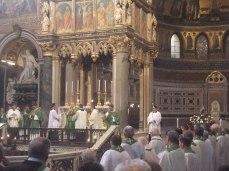 Bénédiction des reliques de saint Colomban