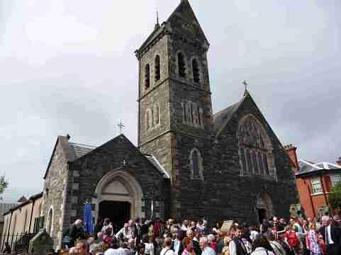 L'église catholique Saint Comgall, fondateur du monastère de Bangor, avait rassemblé tous les colombaniens venus des différents pays européens