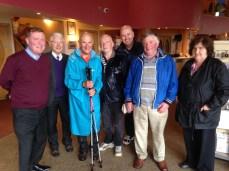 Accompagné malgré la pluie par les Knights of Saint Colombanus et accueilli par Father Paddy à Portlaois