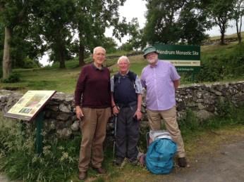 Trois Chevaliers à mes côtés pour la dernière étape: Fred et Jacky H., rencontrés à Athlone et Paddy dont je fais enfin la connaissance