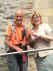 Avec Déborah Girvan, maire de Bangor