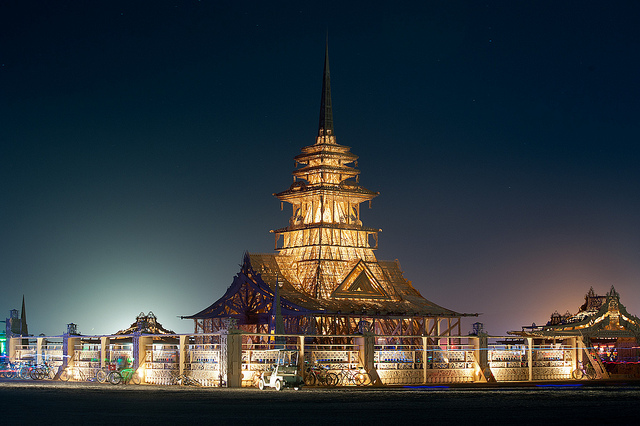 The Temple of Juno, Burning Man 2012. Photograph by James Addison.