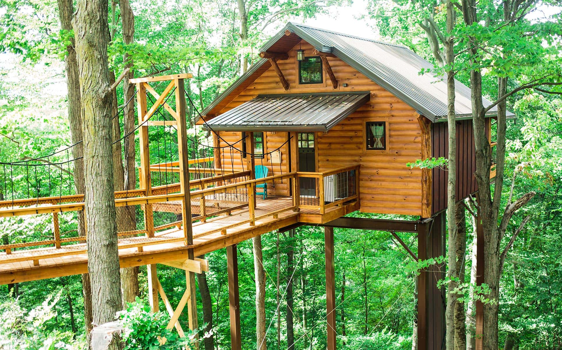 Berlin Ohio Treehouses Rustic Treehouse Lodging In Amish Country