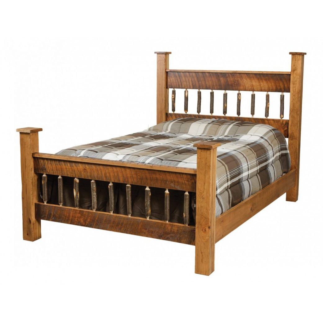 Rustic Square Post Bed Amish Crafted Furniture