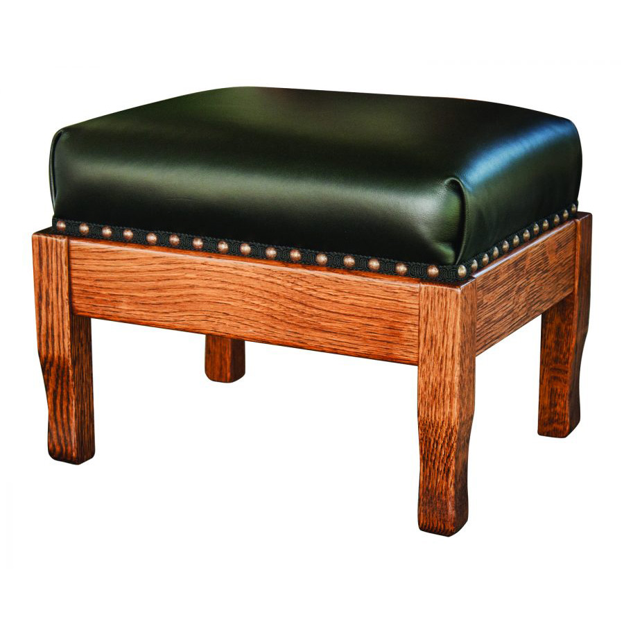 Leather Footstool Amish Crafted Furniture