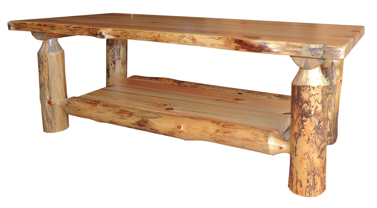 blue ridge rustic pine coffee table