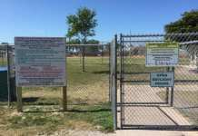 Holmes Beach dog park entrance