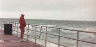 holmes beach manatee pier man