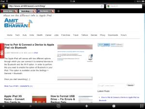 Tabbed Browsing iPad Atomic Browser