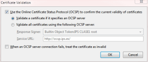 Firefox Certificate Validation