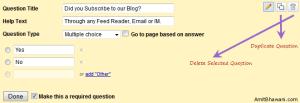 Google Docs Form Setup